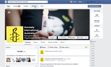 Social Media Activism 102: Goals and Guidlines - Facebook page screen shot