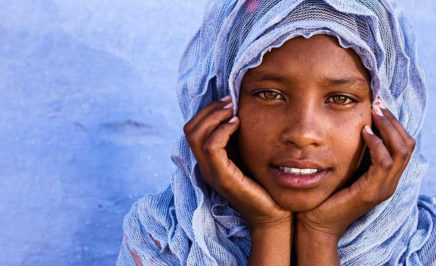 A young Muslim girl in Southern Egypt