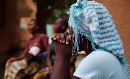 A woman at a shelter for survivors of rape, early and forced marriage and unwanted pregnancy in Burkina Faso.