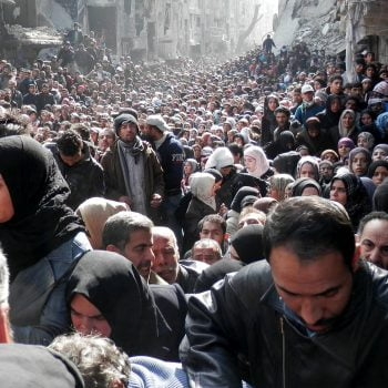 Yarmouk refugee camp in Syria.