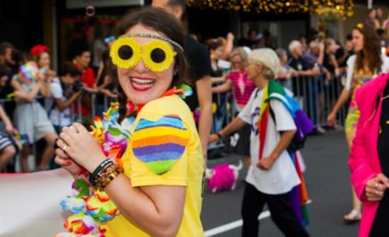 New Zealand supporters take part in Auckland's Pride Parade