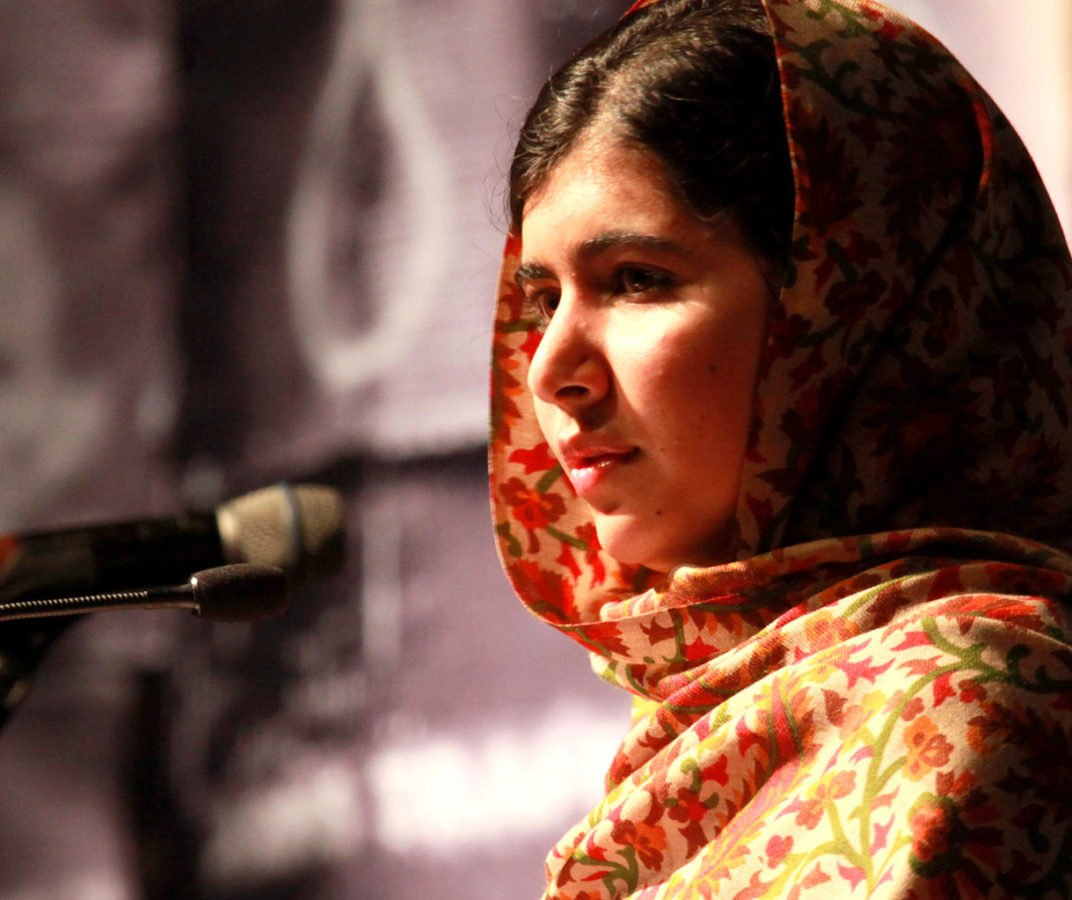 Malala Yousafzai, the schoolgirl shot by the Taliban for campaigning for girls' education was presented with an International's Ambassador of Conscience award.