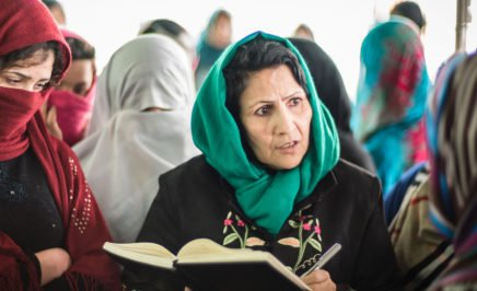 Fawzia Nawabi, investigator at the Afghanistan Independent Human Rights Commission, Mazar-e-Sharif, gathers information in a local women's prison