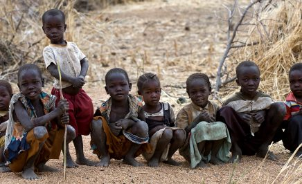 A group of IDP children in Dalami County, South Kordofan, Sudan.