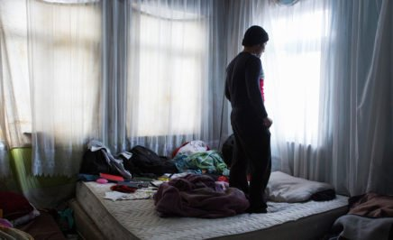 An Afghan migrant in Istanbul, Turkey.