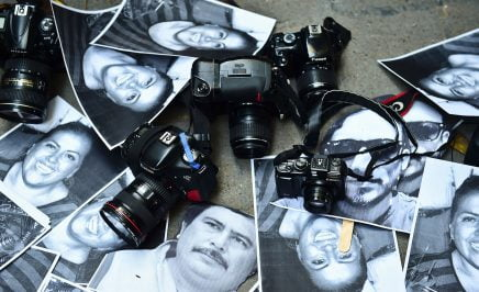 Photos of killed journalists with cameras in Mexico