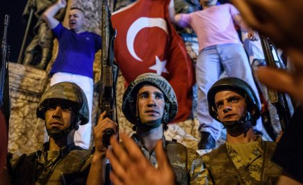Turkish solders in Taksim square, Istanbul on July 16, 2016.