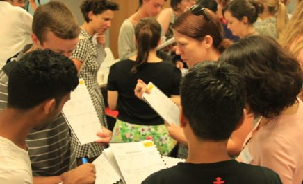 Activists participating in training at a NSW social change lab.