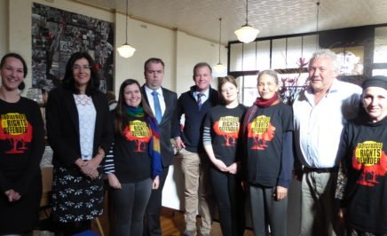 Amnesty activists in Tasmania meeting with Premier Will Hodgman. © Private