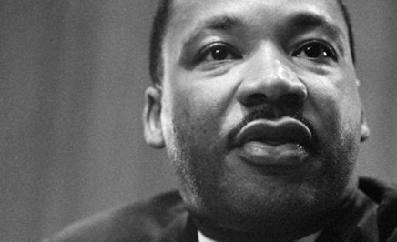 The face of Martin Luther King