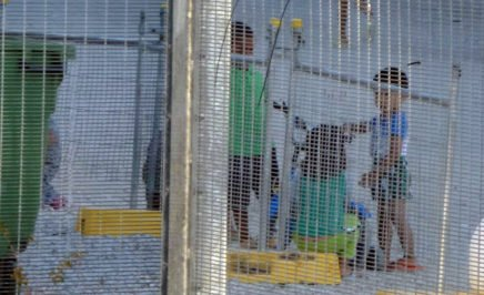 Children playing near the Refugee Processing Centre on Nauru. © Private