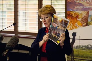 Claire Mallinson launching our QLD youth justice report. © AI