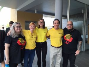 Activists campaigning at the QLD Schools conference.