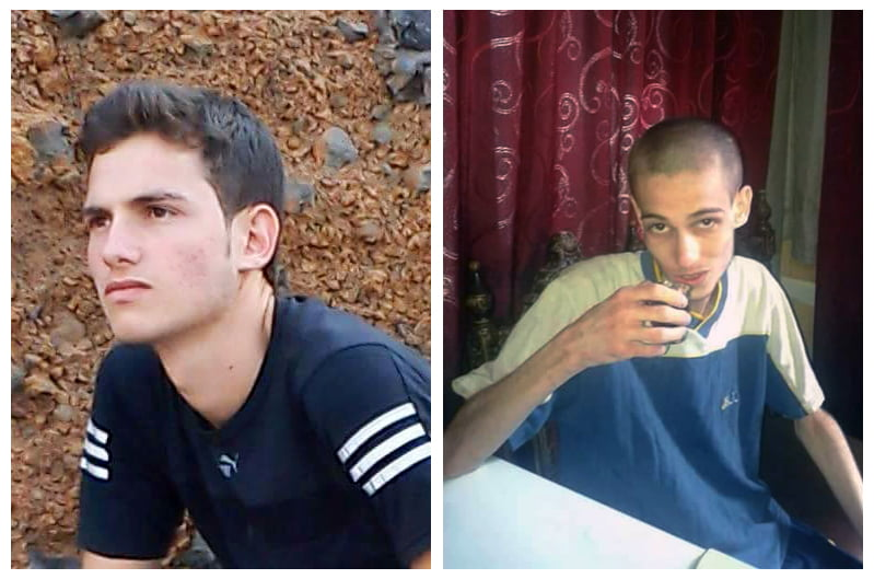 Former detainee Omar al-Shogre before his arrest and shortly after his release from Saydnaya