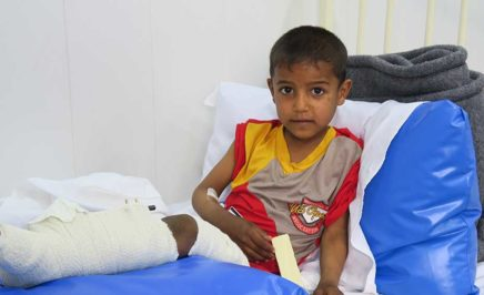 Osama was injured while escaping from Mosul