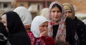 Syrian women waiting in line to register with the UNHCR. © Flickr/UNHCR Photo Unit
