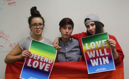 South Australian Queer Action Group planning Vote YES For Love activites.