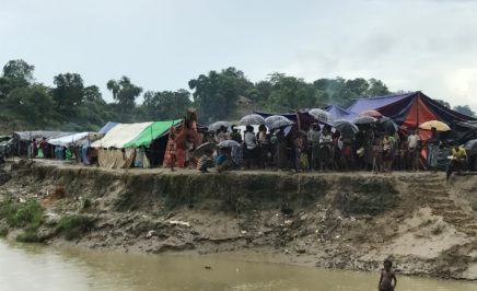 A camp in a buffer zone between the Bangladesh-Myanmar border.