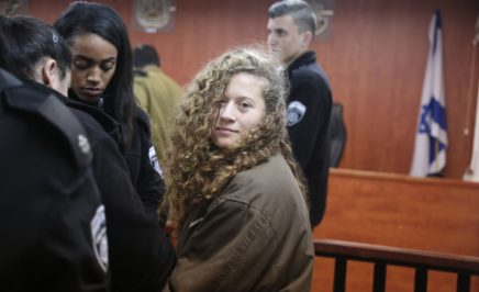 16-year-old Palestinian Ahed al-Tamimi appears in court after she was taken into custody by Israeli soldiers. © Issam Rimawi/Anadolu Agency/Getty Images