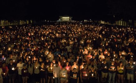 USA: In a bid to heal, students and Charlottesville residents marched peacefully through the University of Virginia Campus.