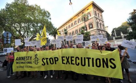 Amnesty International supporters campaign to end the death penalty. Photo: AFP/Getty Images