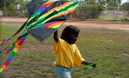 Amnesty International thanks the Indigenous children who participated in the Raise the Age launch on Larrakia land on 28 August 2018. © Pasquale Tassone