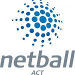 netball act logo with grey text below a blue star made of small dots