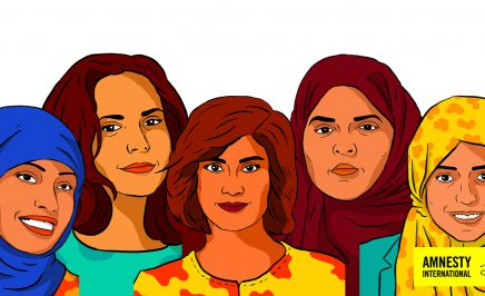 Loujain al-Hathloul, Iman al-Nafjan, Aziza al-Youssef, Samar Badawi and Nassima al-Sada are women human rights defenders who have campaigned for women's rights to drive and against the guardianship system in Saudi Arabia.