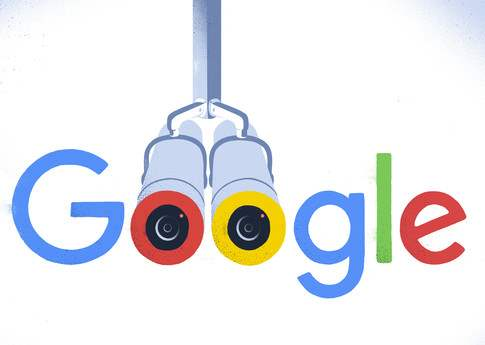 An illustration of the 'Google' logo, with the O's depicted as binoculars.