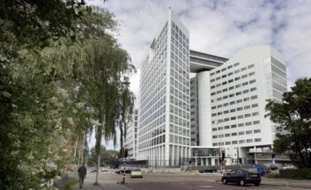 Picture shows the International Criminal Court (ICC)