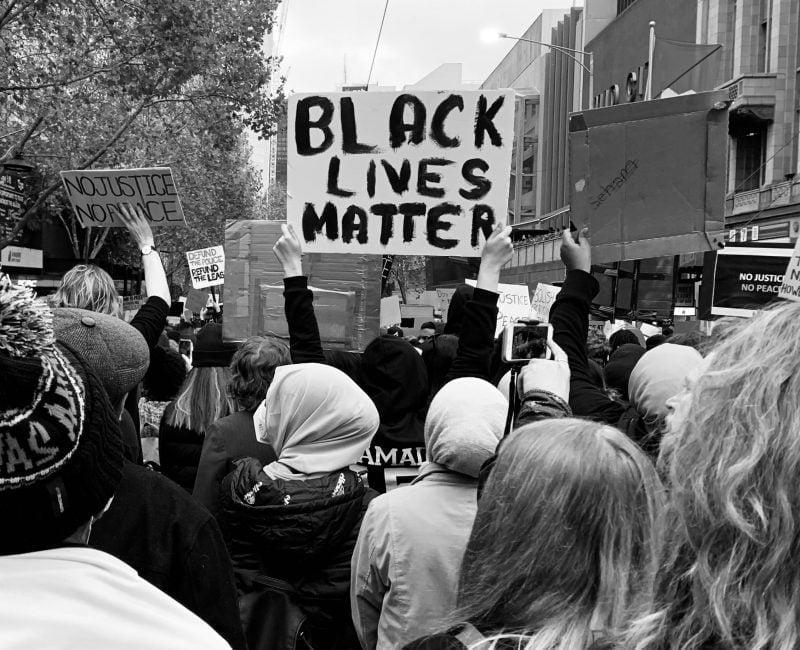 Black Lives Matter sign at 2021 rally
